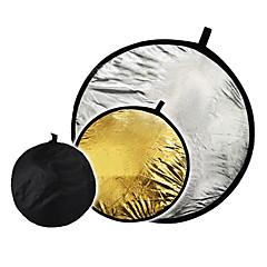 """32 """"2 in1 de plata de oro del disco 80cm Reflector plegable"""