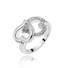 Gyűrűk Napi Ékszerek Kristály / Ötvözet Női Karikagyűrűk9 Fehér / Piros / Kék