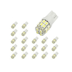 10 x T10 20-SMD 1210 biała LED Bulb Lights Car 194 168 2825 W5W