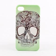 お買い得  iPhone 4s / 4 ケース-iPhone 4と4S(マルチカラー)の頭蓋骨頭のパターンハードケース