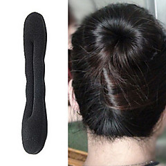 Fabric Alloy Hair Clip Black