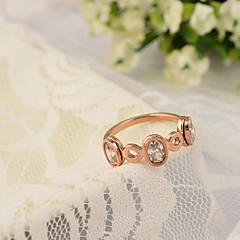 Oro rosa de cristal del anillo del Rhinestone