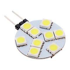 G4 LED-spotlights 9 lysdioder SMD 5050 Kallvit 100-150lm 5500-6500K AC 12V