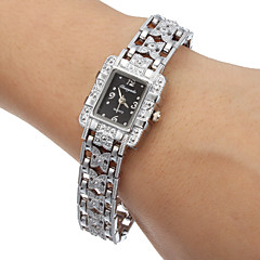 Women's Black Dial Alloy Band Quartz Analog Wrist Watch Cool Watches Unique Watches Fashion Watch
