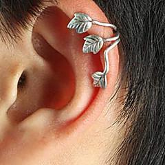 abordables Gemelos para la Oreja-Mujer Puños del oído - Plateado Forma de Hoja damas, Punk, Europeo Joyas Dorado / Plata Para Diario