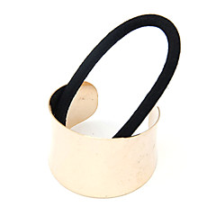 Women's Fabric Alloy Hair Tie,Vintage Cute Casual Hollow Out All Seasons Silver Golden