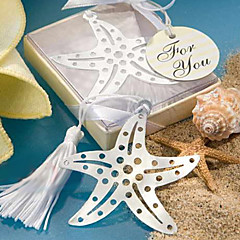 abordables Material de Oficina-Acero inoxidable Tassel Starfish Bookmark