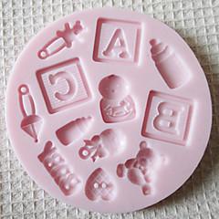 bageform Bogstaver Til Kage Til Cookies Til Tærte Silikone Miljøvenlig Høj kvalitet Halloween