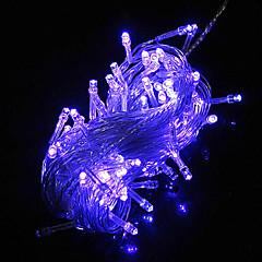 10M 6W 100-LED Blue Light LED Solar Strip Light til Julepynt (110-120V/220-240V)