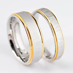 Nueva línea de moda Doble Oro plateado amante del acero inoxidable Anillo