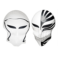 billige Festartikler-Maske Inspireret af Blegemiddel Ichigo Kurosaki Anime Cosplay Tilbehør Sort / Rød PVC Mand