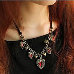 preiswerte Halsketten-Damen Kristall Y Halskette - Krystall, Leder Blume Rot Modische Halsketten Für Party, Party / Abend, Alltag