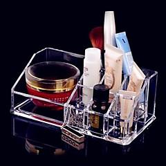 メイク用品収納 化粧品箱 / メイク用品収納 アクリル ゼブラプリント 17.3x9.3x6.6