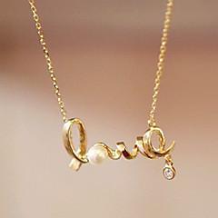 Damskie Naszyjniki z wisiorkami Rhinestone Heart Shape Stop Miłość minimalistyczny styl Biżuteria Na Impreza Codzienny Casual
