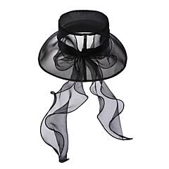 voordelige Haarsieraden-Tule Kristal Stof Organza tiaras hatut 1 Bruiloft Speciale gelegenheden  Feest / Uitgaan Causaal ulko- Helm