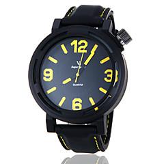 お買い得  メンズ腕時計-V6 男性用 クォーツ 日本産クォーツ スポーツウォッチ カジュアルウォッチ シリコーン バンド チャーム ブラック