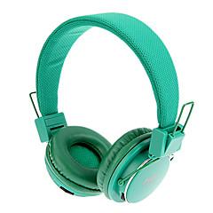 MRH-8809 3.5mm Składane Na Słuchawki douszne z funkcją TF / FM (Zielona)