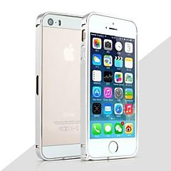 Недорогие Кейсы для iPhone 5-Кейс для Назначение iPhone 5 Apple Кейс для iPhone 5 Защита от удара Бампер Сплошной цвет Твердый Металл для iPhone SE/5s iPhone 5