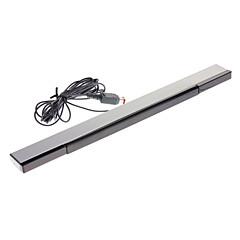 Wired barra de sensores con enchufe USB para Wii Negro y plata (2,3 m de cable)