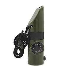 6-em-1 multifunções Outdoor emergência Whistle w / Compass / Lanterna / Termômetro - Verde