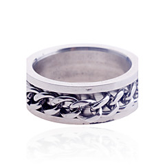 cheap Rings-Men's - Stainless Steel Luxury 7 / 8 / 9 / 10 Silver For Christmas Gifts