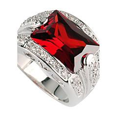 preiswerte Ringe-Damen Statement-Ring - versilbert 6 / 7 / 8 Rot Für Party / Alltag / Normal / Zirkon
