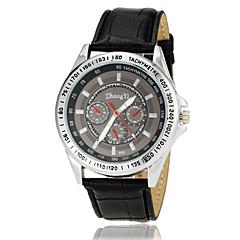 preiswerte Herrenuhren-Herrn Armbanduhr Quartz Armbanduhren für den Alltag Leder Band Analog Charme Kleideruhr Schwarz / Weiß / Braun - Schwarz Braun Schwarz / Edelstahl