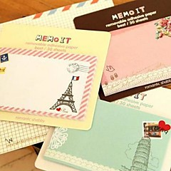 Vintage Pattern Self-Stick Note(Random Color) For School / Office