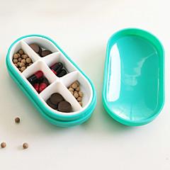 abordables Cuidado Médico y Personal-caso de la píldora individualizada y encantadora portátil (color al azar)