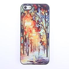 billige iPhone 5-etuier-Etui Til iPhone 5 Apple iPhone 5 etui Mønster Bagcover Landskab Hårdt PC for iPhone SE/5s iPhone 5