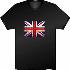 abordables Artículos de Fiesta-Bandera de Reino Unido del patrón controlado por voz de Flash Plate (no incluido T-shrit)