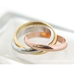 preiswerte Ringe-Damen Bandring - Aleación Modisch 7 Gold / Silber Für Hochzeit Party Alltag