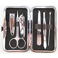 6pcs embalagem de verificação de aço inoxidável cortador de unhas tesoura kit manicure pedicure