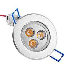 3W 매립 조명 / 천장 조명 매립형 레트로핏 3 고성능 LED 250 lm 따뜻한 화이트 AC 85-265 V