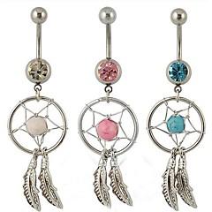 tanie Biżuteria na ciało-Kryształ Pierścień pępka / piercing brzucha - Kryształ Damskie Biżuteria Na Codzienny / Casual