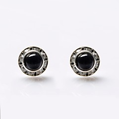 cheap Multicolor Pearl Collection-Women's Pearl Stud Earrings - Pearl, Crystal, Imitation Pearl Luxury White / Black For Wedding / Party / Daily / Imitation Diamond / Black Pearl / Rhinestone