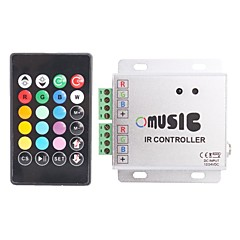 abordables Accesorios LED-288W Control Remoto IR Controller Music RGB LED Strip (12 ~ 24V)