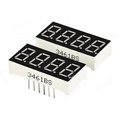"DIY 0.36"" 4-Digit Digital 7-segment Display - Black (2 PCS)"
