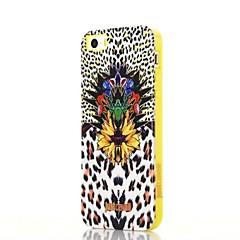 Для Кейс для iPhone 5 Защита от удара / С узором Кейс для Задняя крышка Кейс для Леопардовый принт Мягкий TPU iPhone SE/5s/5