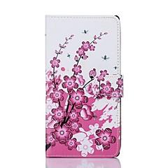 Plum Flower Pattern PU Leather Full Body Case voor Sony T2