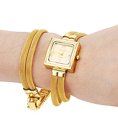 preiswerte Damenuhren-Damen Quartz Sportuhr Band Silber / Braun / Gold Marke-