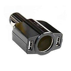 Car Cigarette Lighter Dual USB 5V Port Charger for iphone 8 7 Samsung S8 S7 iPad HTC