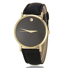 Mulheres Relógio de Moda Quartzo imitação de diamante PU Banda Minimalista Preta Branco Marrom