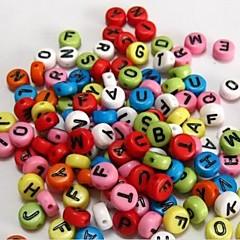 voordelige Kralen-z&x® diy kralen materiaal kleur letter kralen 100 stuks (willekeurige kleur, patroon)