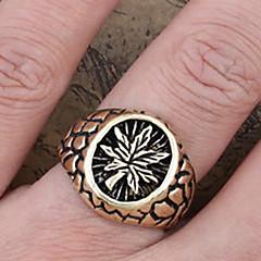 Χαμηλού Κόστους Αντρικά Κοσμήματα-εκλεκτής ποιότητας φύλλα των ανδρών χαραγμένο δαχτυλίδια μπάντα