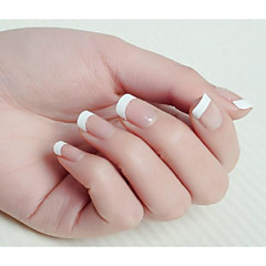 10x50PCS Mixs Size White Smile Nail Art French Tips