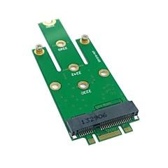 voordelige Nieuw Binnengekomen-M.2 ngff pci-e 2 baans gouden vinger pin naar 50mm mini-PCIe mSATA (18 + 8) ssd harde schijf pcba 0,05 miljoen 0.15ft