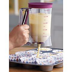 cukrászsütő adagoló, mérőcímke, 4 csészés sütemény, sütőszerszám