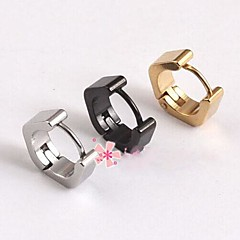 billige Øreringe-Herre Stangøreringe kostume smykker Titanium Stål Geometrisk form Smykker Til Bryllup Fest Daglig Afslappet Sport Julegaver