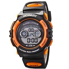 お買い得  メンズ腕時計-女性用 クォーツ 30 m スポーツウォッチ PU バンド デジタル ブラック - オレンジ イエロー レッド